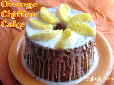 Orange Chiffon Cake for Clandestine Cake Club