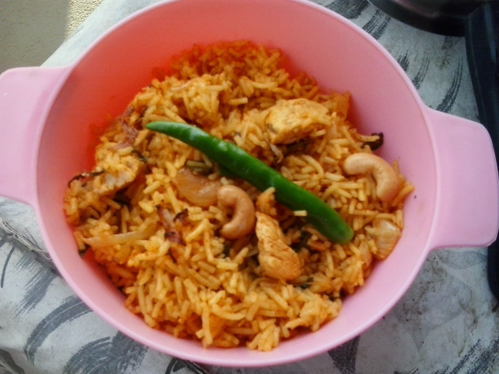 Andhra style chicken pulao recipe