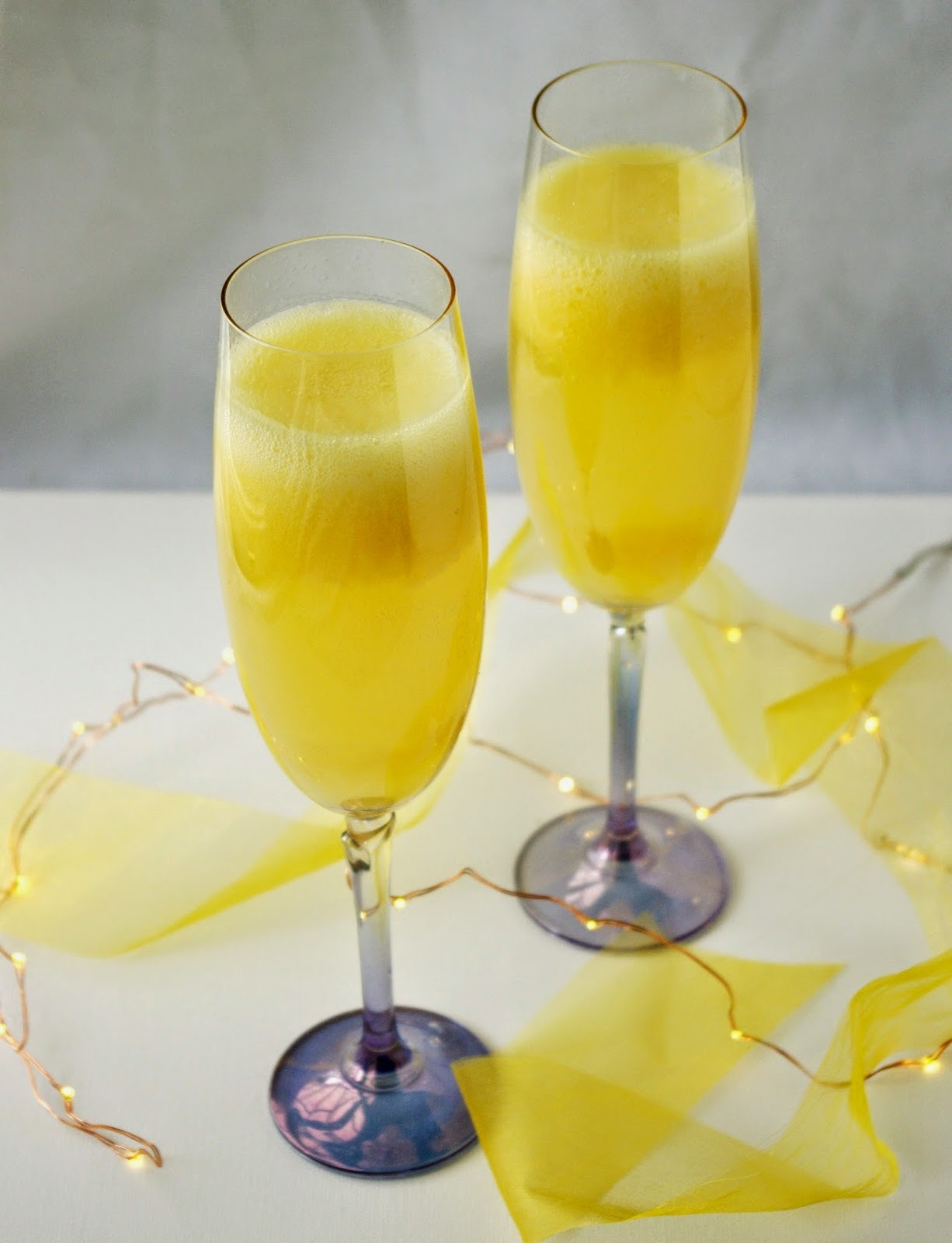 Mango Bellini to Toast the New Year