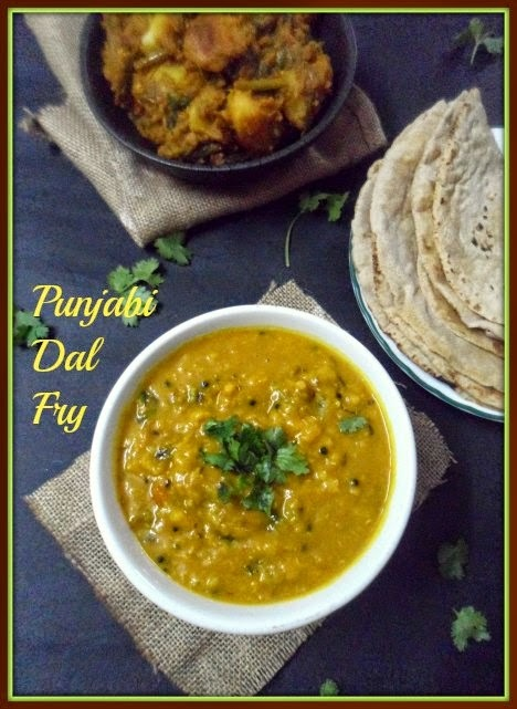 Dhaba Style Dal Fry with Dum Aloo with Spring Onion