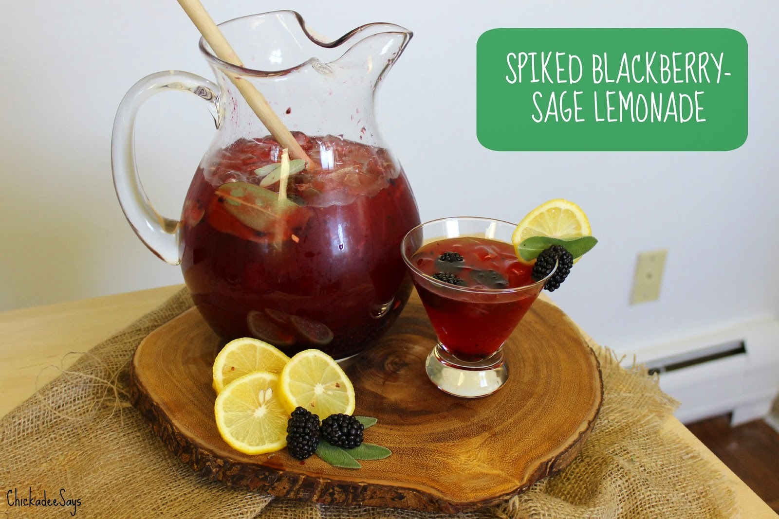 Summer Drink Series: Spiked Blackberry-Sage Lemonade