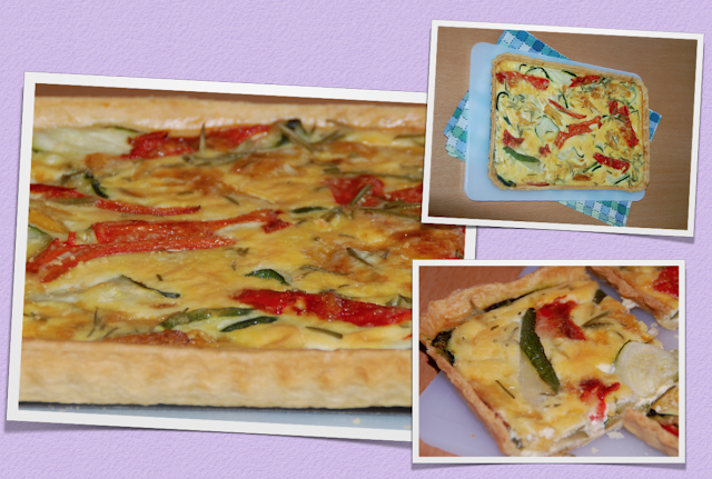 Courgette and pepper tart / Tarte de curgetes e pimentos!