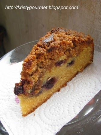 Blueberry Streusel Sugee Cake With Condensed Milk