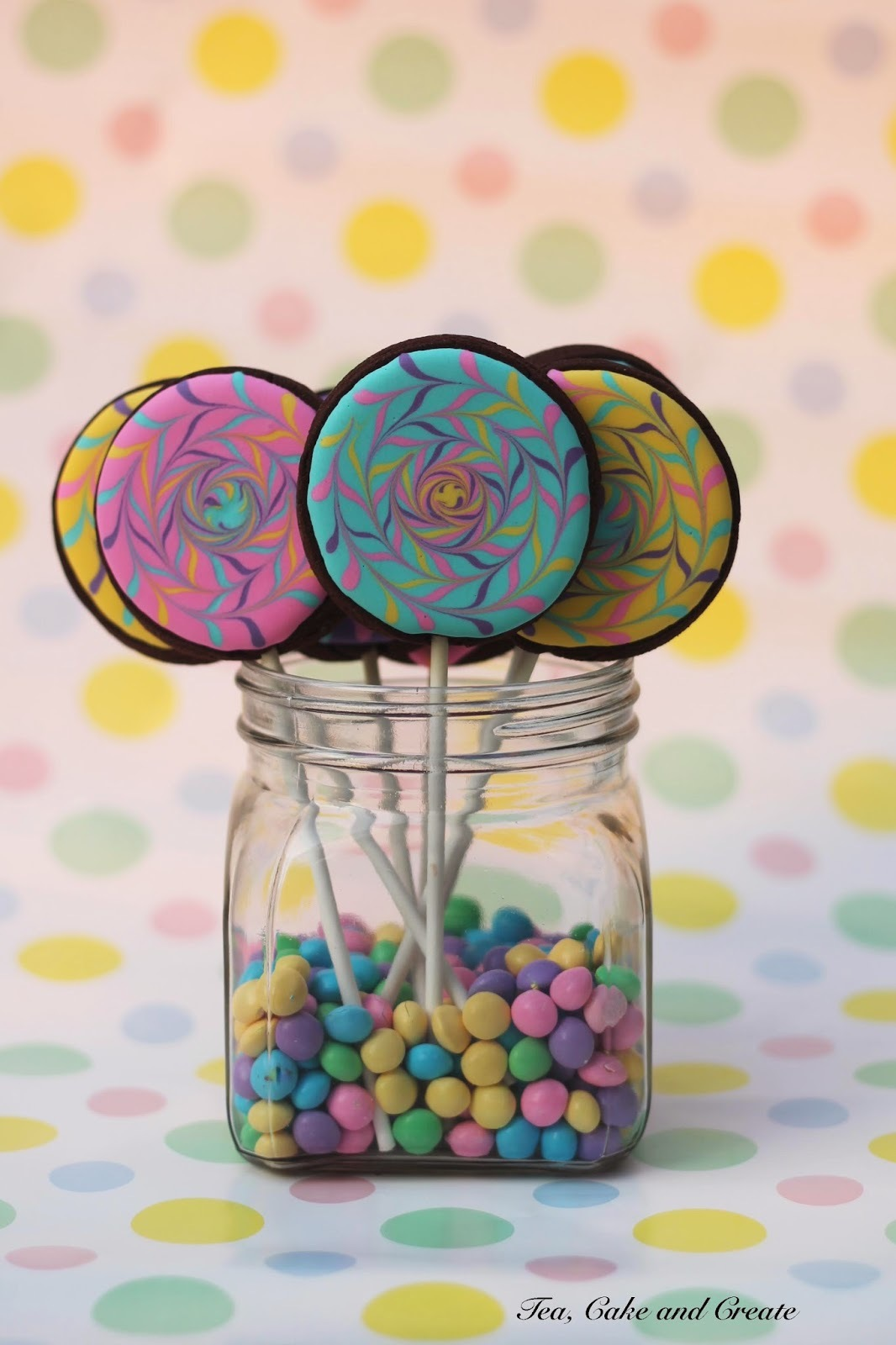 Colourful Cookie Pops