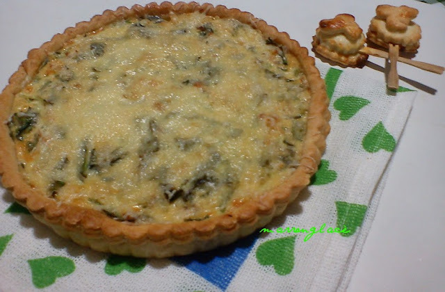 Quiche de pollo con roquefort