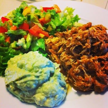 LCHF: Pulled chicken