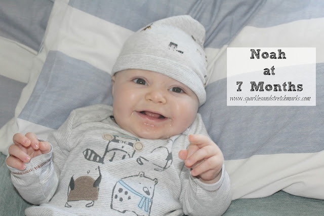 Noah at 7 Months + Our Thoughts On The Chicco Walker