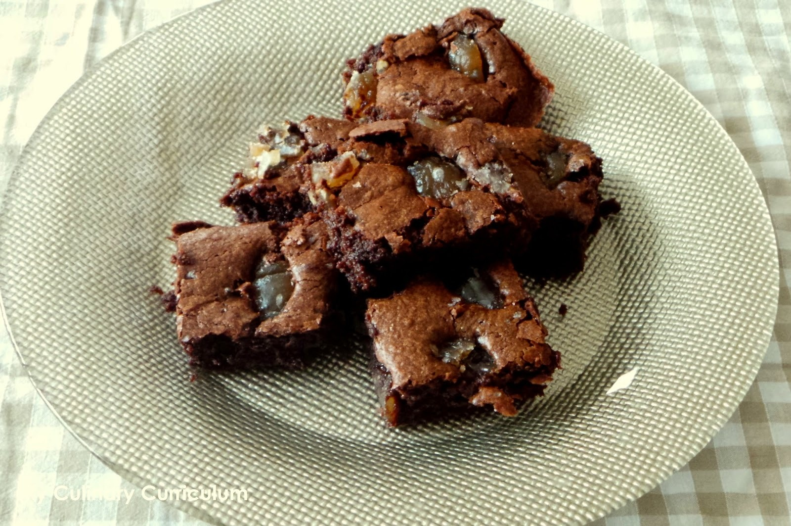 Brownies aux marrons glacés (Brownies with candied chestnuts)