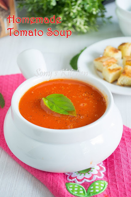 Homemade Tomato Soup / How To Make Easy Tomato Soup