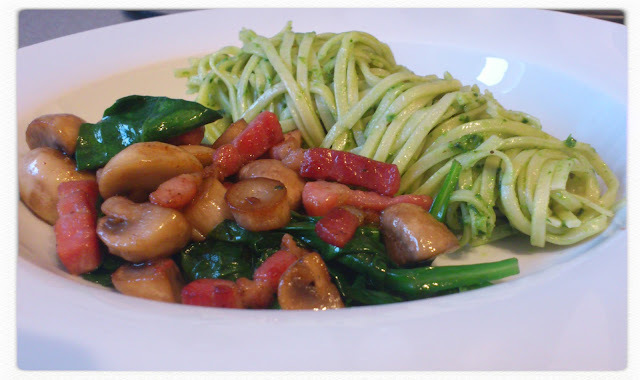 Wild Garlic and Basil Pesto with Fresh Pasta