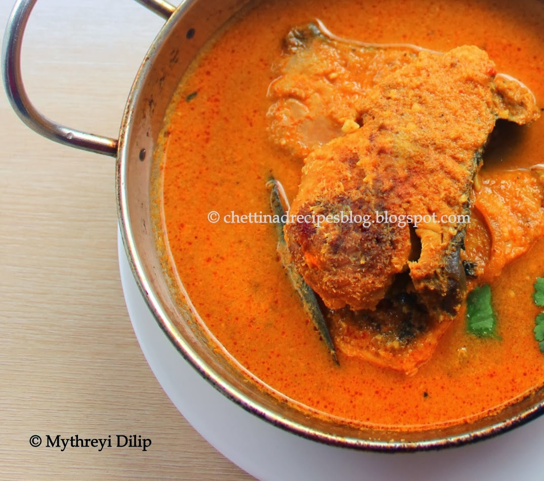 Chettinad Fish Curry / Meen Kurma / Coconut Fish Curry