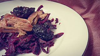 Duck with red cabbage: our last meal of 2013