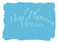 Meal planning Monday - 16th Jan 2012