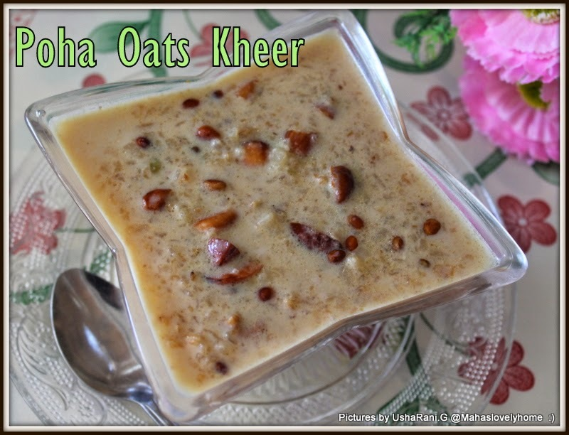 Rice flakes Oat meals Kheer | Poha Oats Jaggery Kheer | Atukulu Oats Bellam Payasam | Aval Oats Kheer | Indian Style Flattened Rice Oats Milk Pudding  | Quick and Easy South Indian Festival Sweets | Top Ten Easy Indian Festival Sweets