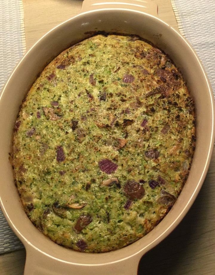 Broccoli-svampe gratin