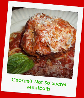 "George says, ""My meatballs are better than hers"".  Really?"