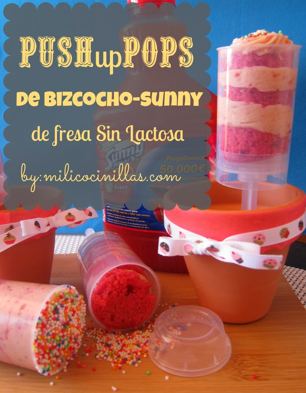 Push Up Pops de Fresa Sin Lactosa