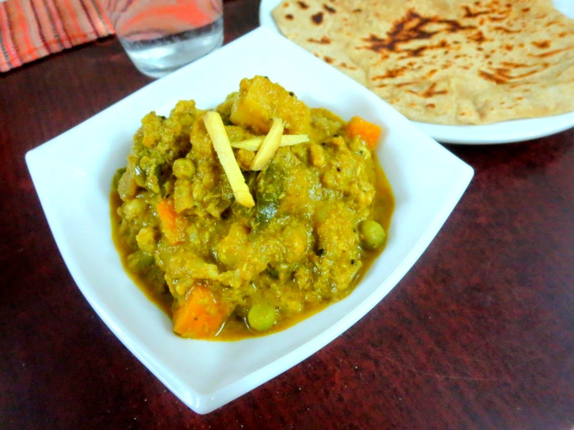 Nilgiris Kurma | How to make Vegetable Nilgiri Korma