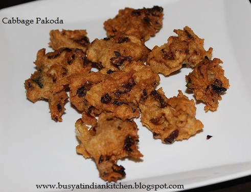 Wheat Flour & Cabbage Pakoda