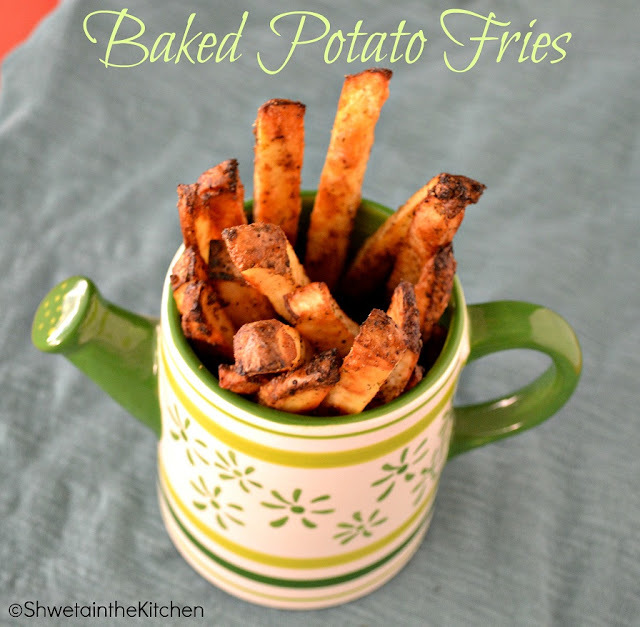 Oven Roasted Potato Fries - Baked Potato Fries