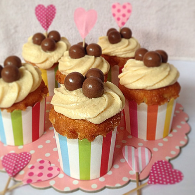 maltesers peanut butter cupcakes.
