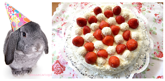 Erdbeer - Raffaello - Torte oder : Happy Birthday to me :)