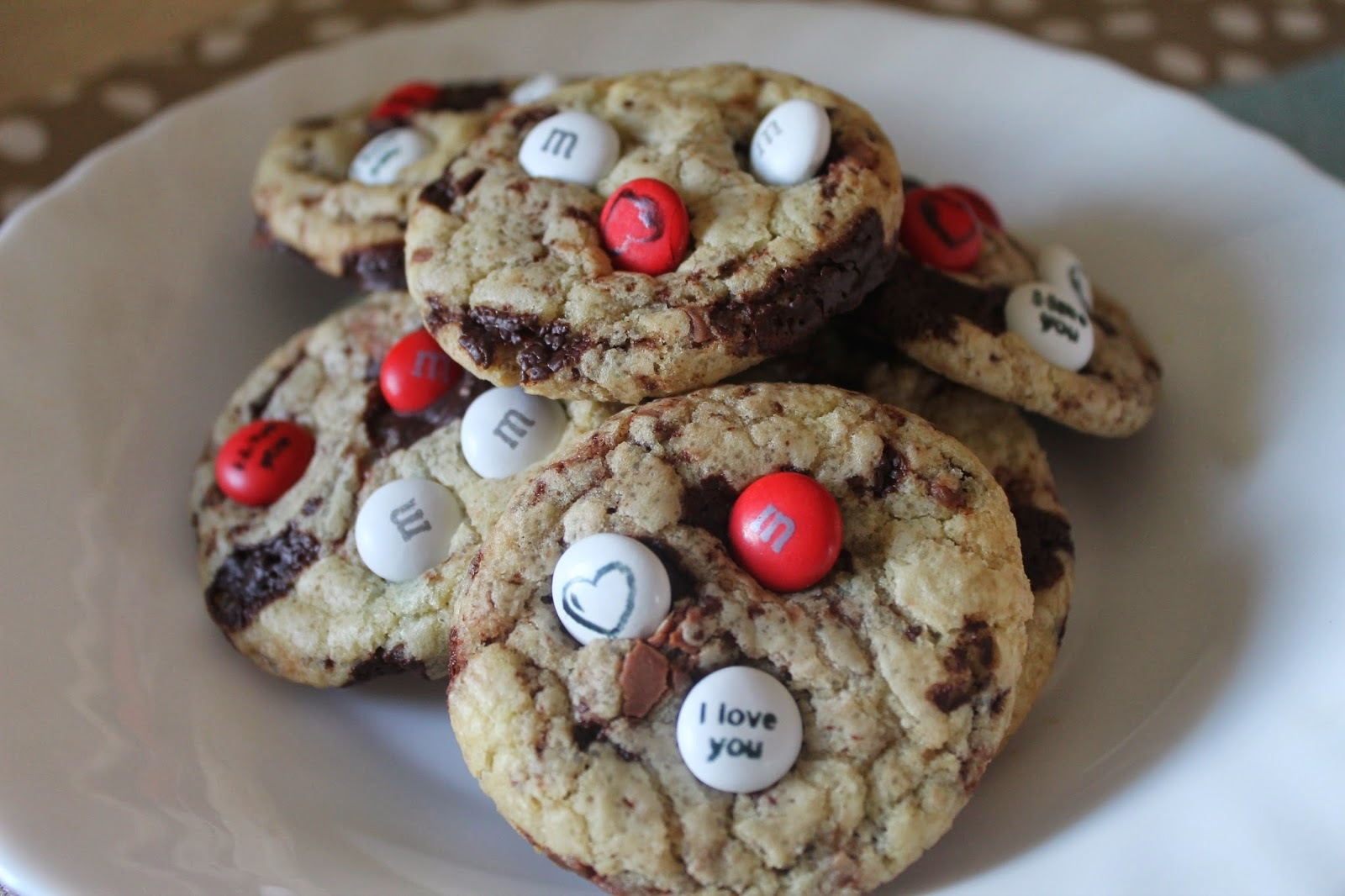 I Love You - M&m's cookies