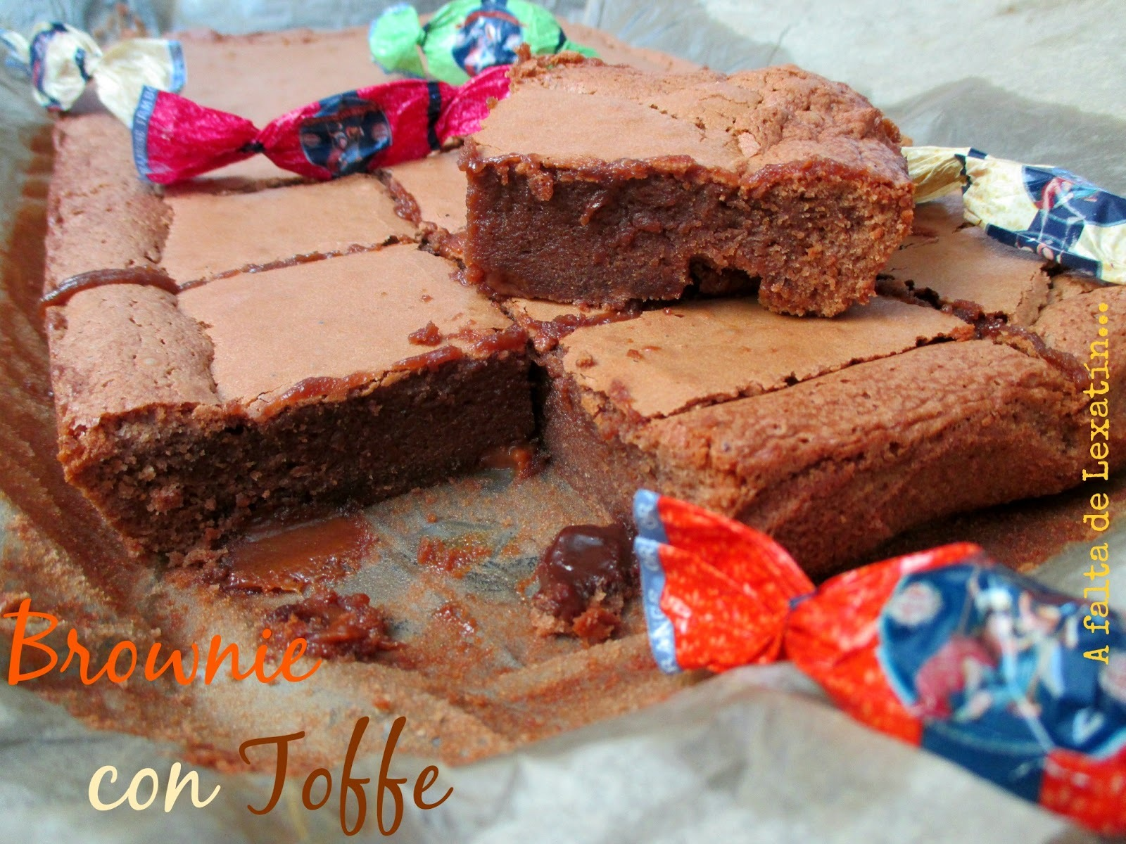 Brownie con toffe