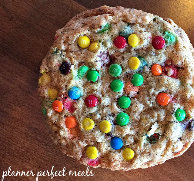 M&M Oatmeal Monster Cookies