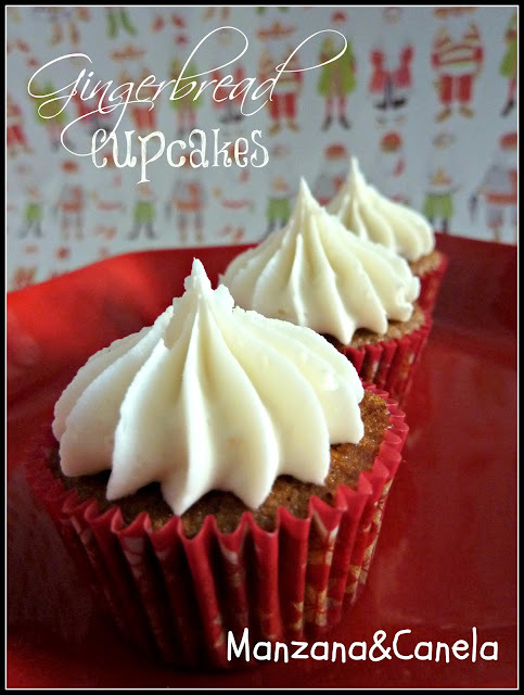 """Christmas mode"" on: Gingerbread Cupcakes"