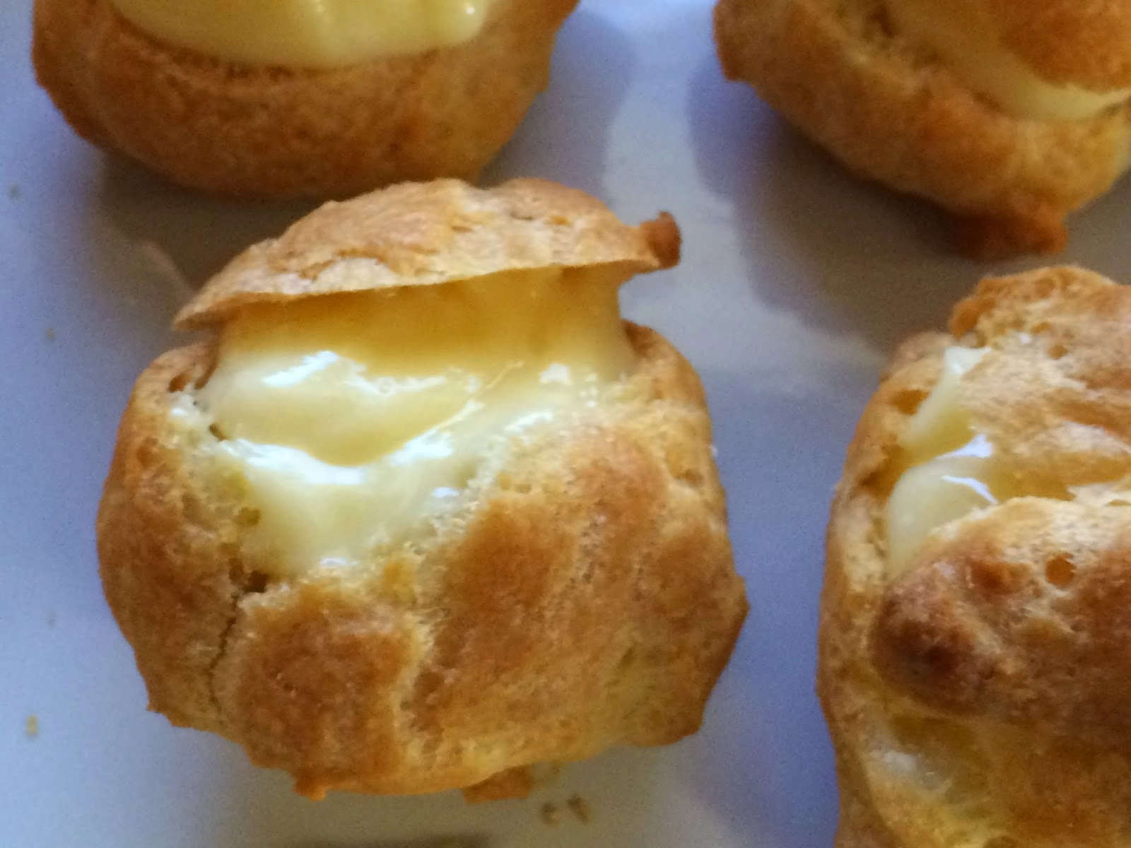 French-born delicacy . . . crisp and hollow — CREAM PUFFS