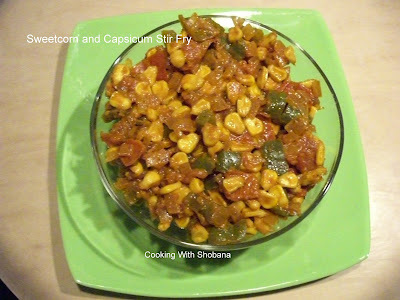 SWEETCORN AND CAPSICUM STIR FRY