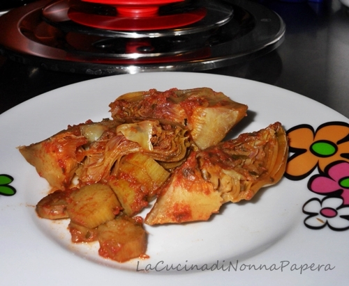 Carciofi in umido con Magic Cooker