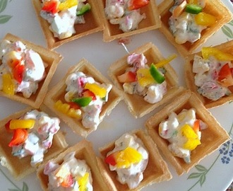 Vegetable canap s recipes mytaste for Easy canape fillings