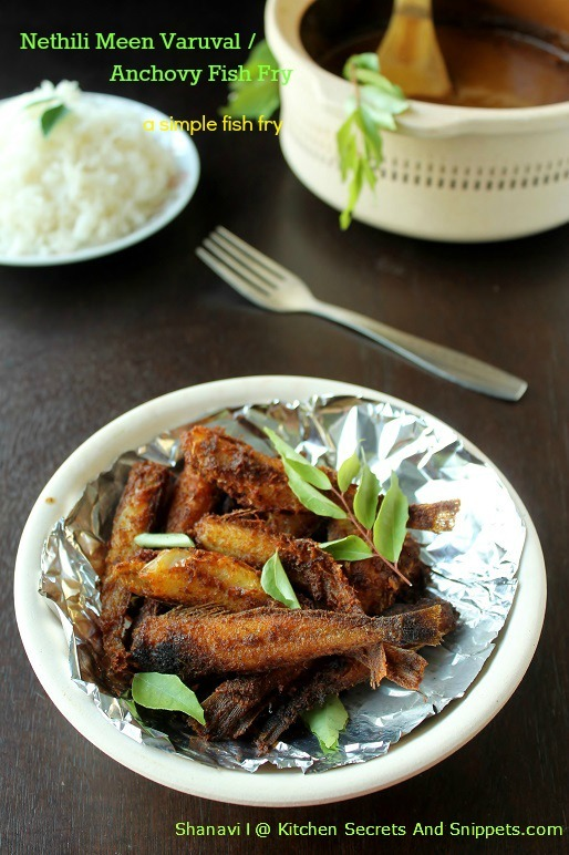 Nethili Meen Varuval / Anchovy Fish Fry
