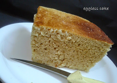 EGGLESS CAKE IN MICROWAVE
