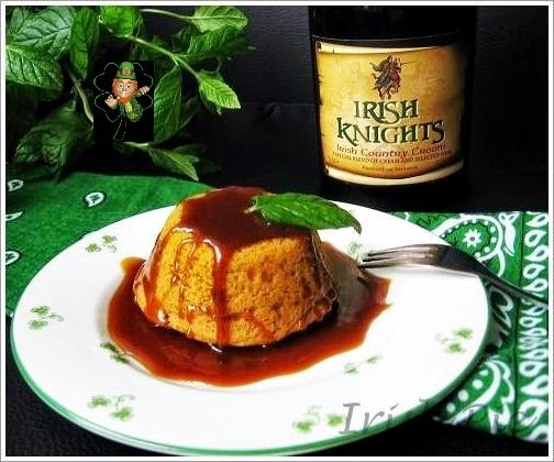 Warm Carrot Puddings with Irish country Cream Sauce / Warmer Karotten Pudding mit Irish Country Cream