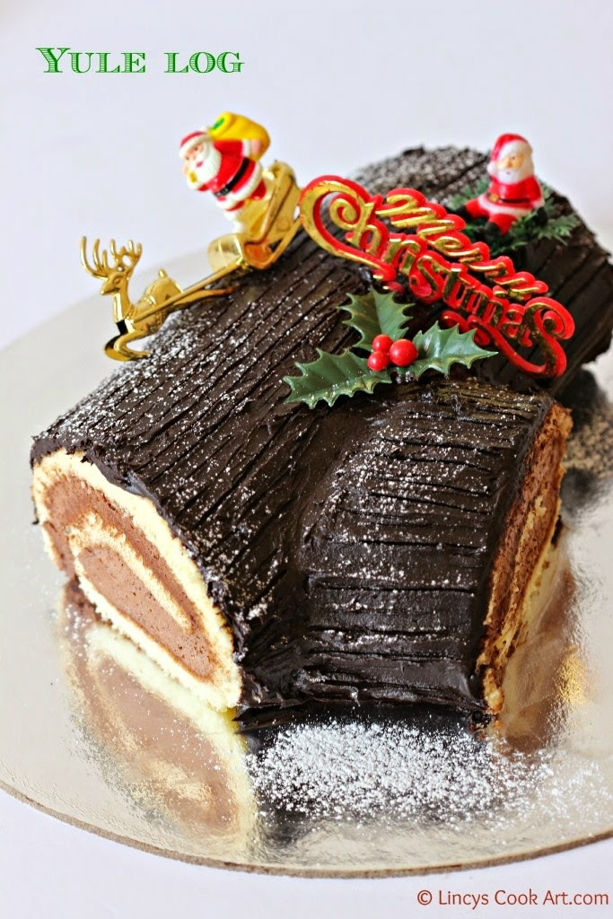 Christmas Yule log/ Buche de Noel
