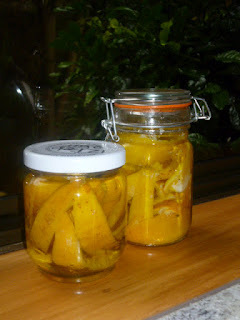 Quick Preserved Lemons and Limoncello