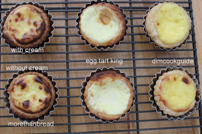 Portuguese Egg Tart Recipe Comparison 葡撻大比拼