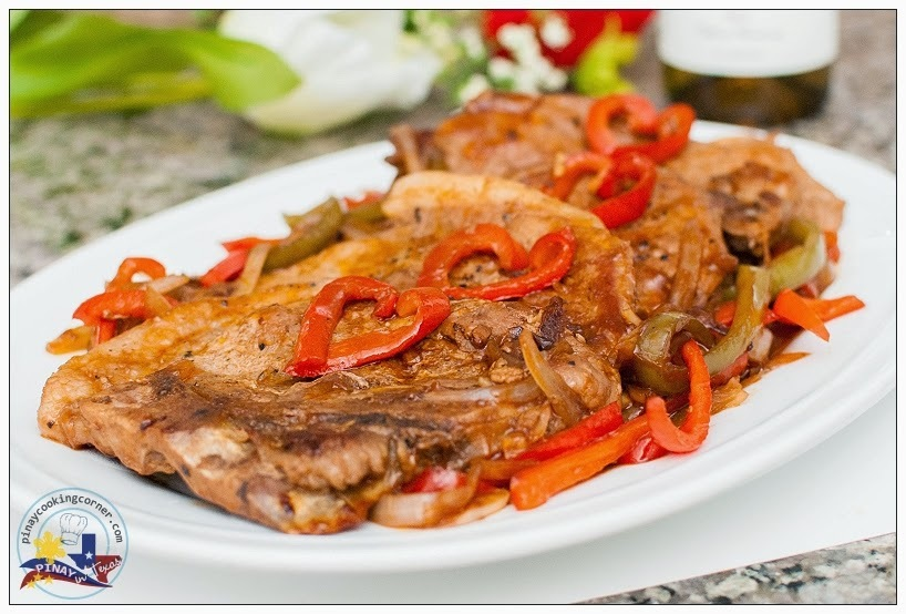 Braised Pork Chops and Bell Peppers