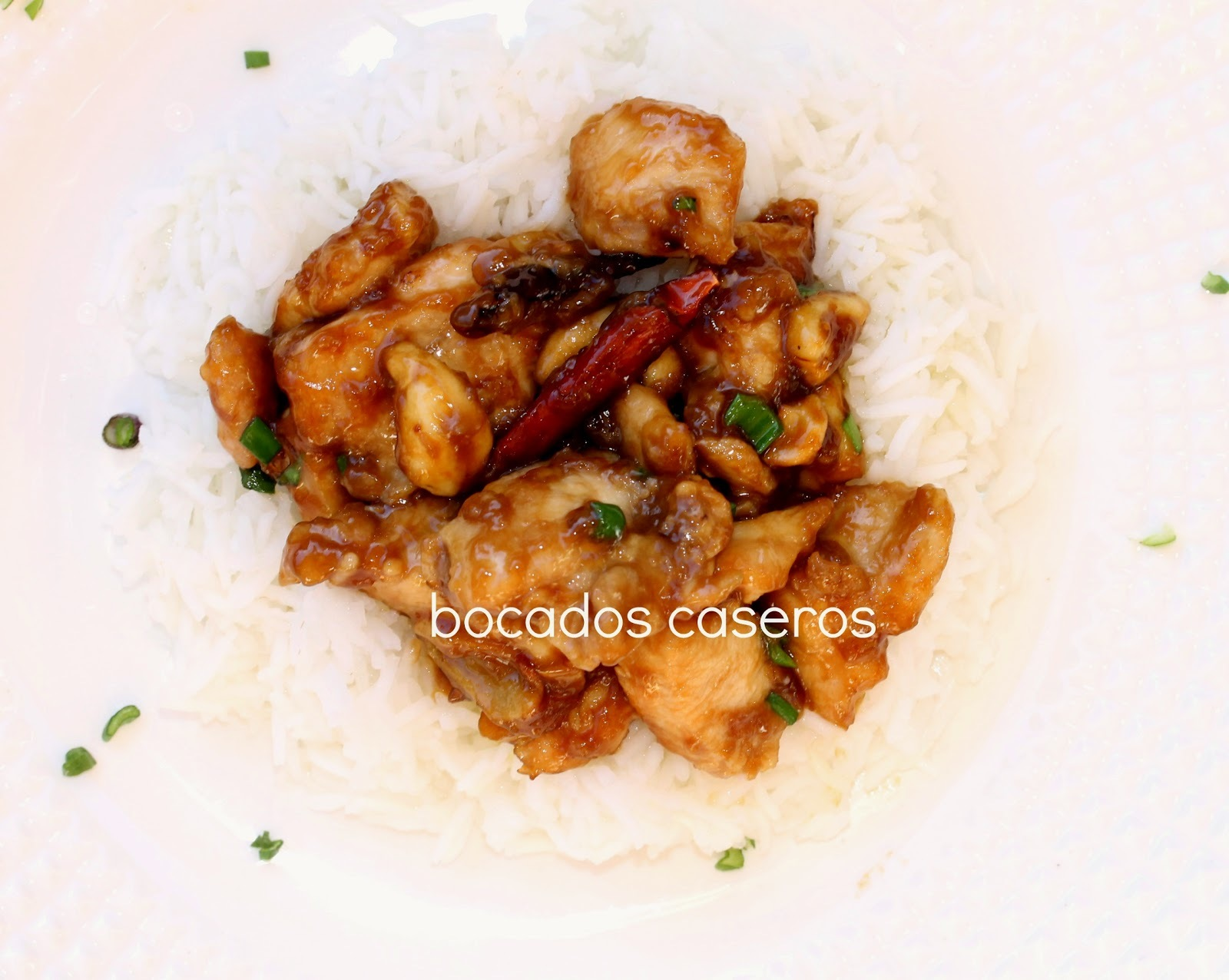 Auténtico pollo Kung Pao, 宫保鸡丁, receta occidental