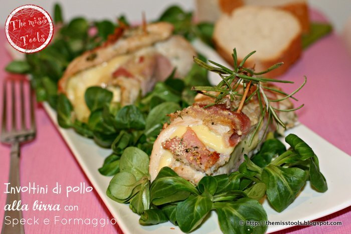 Involtini di pollo alla birra con speck e formaggio - Beer chicken rolls with speck and cheese