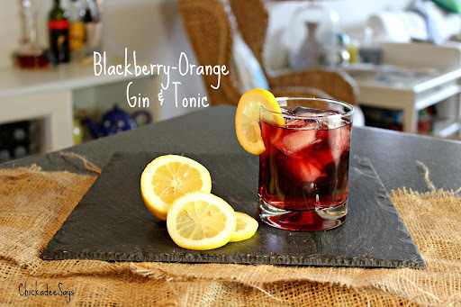 Summer Drink Series: Blackberry-Orange Gin and Tonic