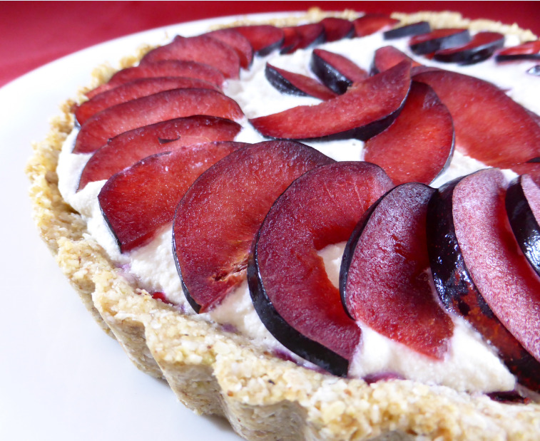 Rocket & Roses Plumingranate Tart (Vegan and Gluten Free)