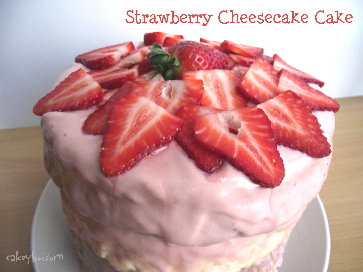 Strawberry Cheesecake Cake for Cake Club