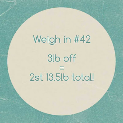 Slimming World weigh in #42 - the one where I'm almost there...