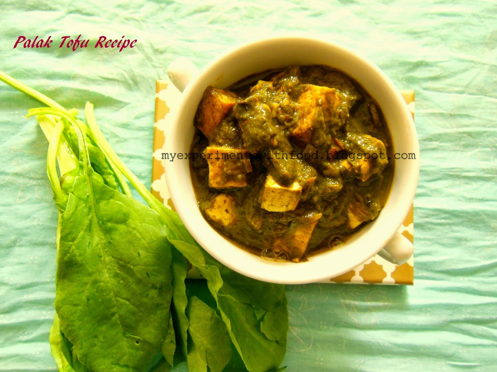 Palak Tofu Recipe/ Spinach and Tofu Curry