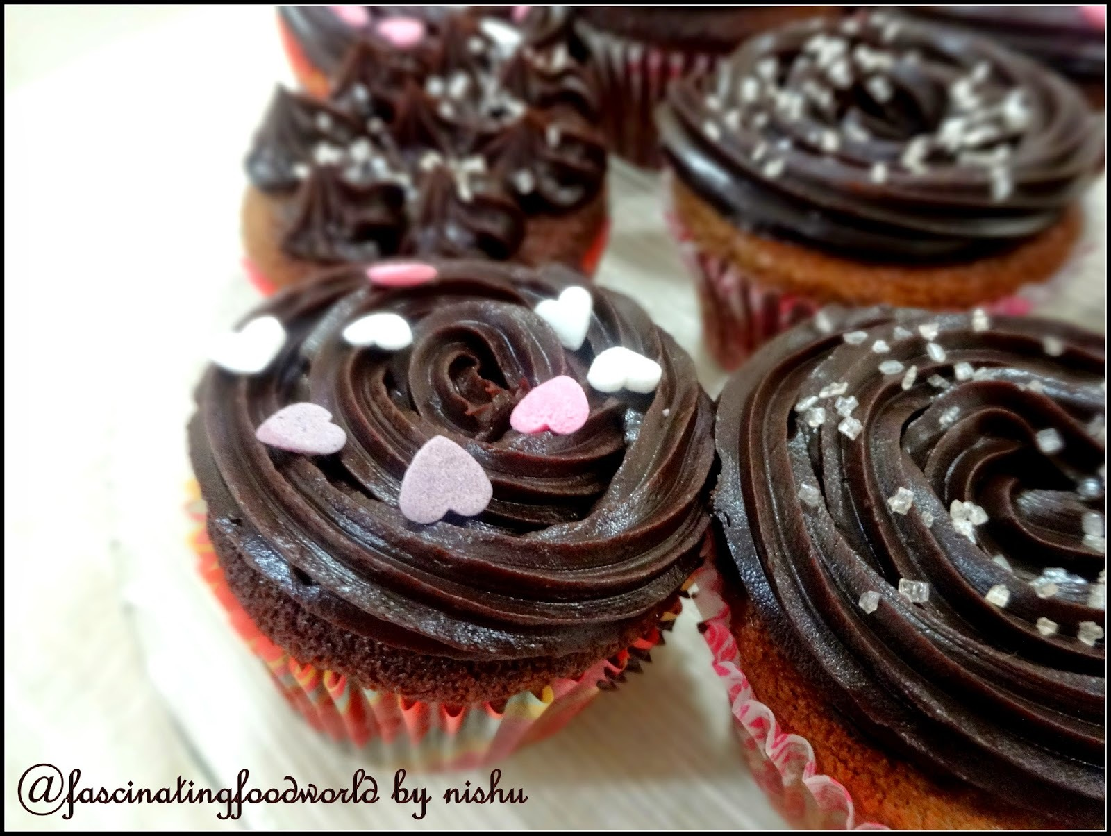 Dark Chocolate Cupcake (Eggless)