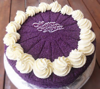 Ube (Purple Yam) Macapuno Cake...Revisited